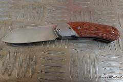 MINIBADA EVO 2 micarta orange et rouge + mitre Z8 D2 (1)