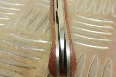 MINIBADA EVO 2 micarta orange et rouge + mitre Z8 D2 (5)